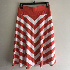 Old Navy Womens Orange & Ivory Chevron Skirt S